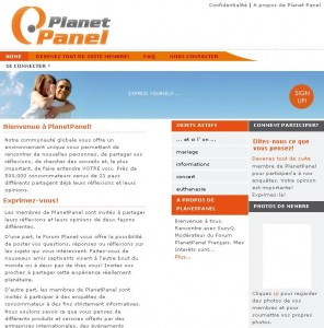 Accueil PlanetPanel